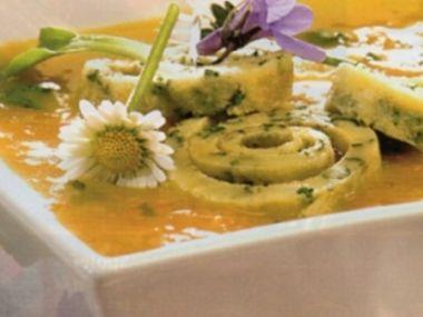 Sedmikrásková polévka s celestýnskými nudlemi