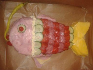 Slaný dort RYBA