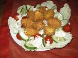 Sýrové krokety s kukuřičnými křupínky recept