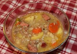 Kroupová polévka s mletým masem recept