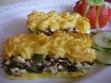 Brokolice zapečená s uzeným šmakounem a bramborovou kaší ...