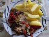Zapečené vepřové maso se zeleninou recept
