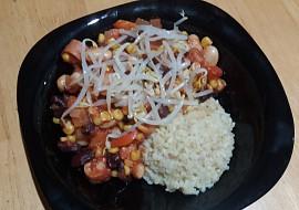 Veganská mexická pánev s bulgurem recept