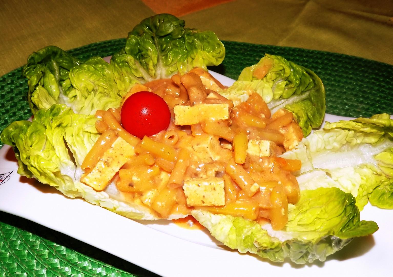 Tofu na smetaně s fazolkami recept