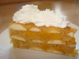 Studený jablečný dort s broskvemi recept