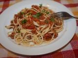 Špagety s tuňákem II. recept