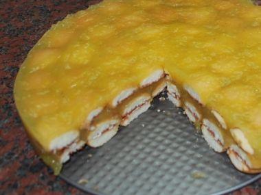 Recept Piškotový dort s jablky