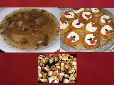 Oběd 33  Masová polévka a bramborové vdolečky