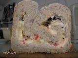 Plněný chléb se sýrem recept