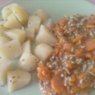 Dušená mrkev s mletým masem recept