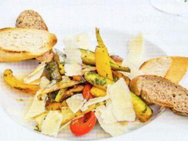 Smažená zelenina se sýrem
