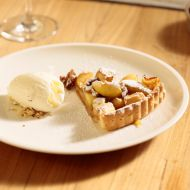 Jablečný koláč se zmrzlinou recept