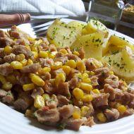 Sója na cibulce s kukuřicí recept