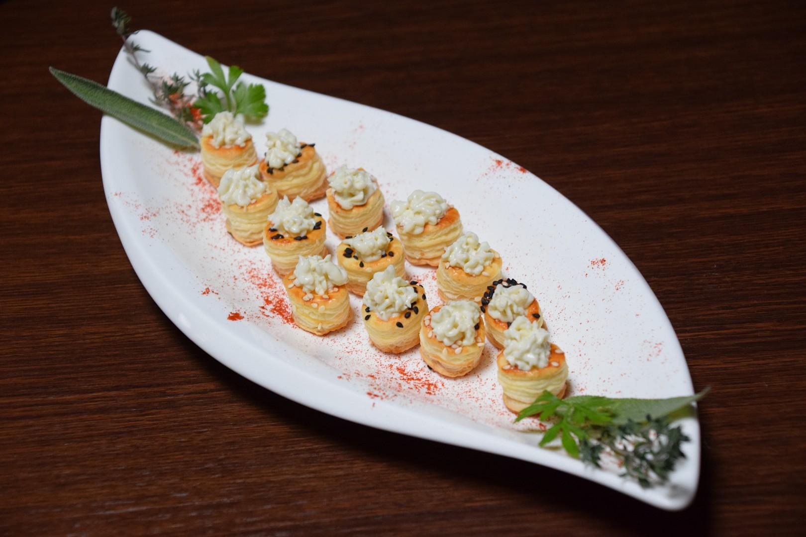 Amuse-bouche z listového těsta recept
