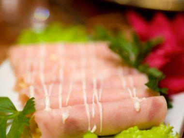 Šunkové závitky s gorgonzolou