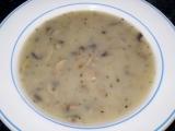Žampionová krémová polévka  vegan recept