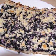Borůvkový bleskový koláč recept