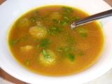 Polévka z máslové tykve a růžičkové kapusty recept