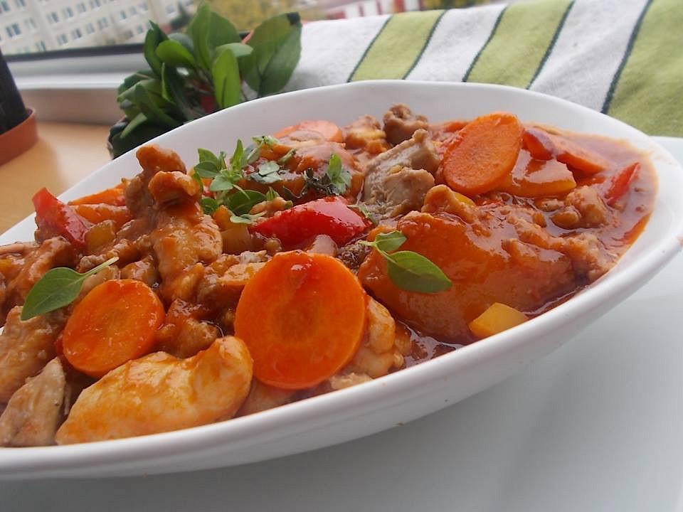 Kuřecí sladkokyselá čínská omáčka s mrkví a ananasem recept ...
