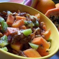 Ovocný salát s papájou recept