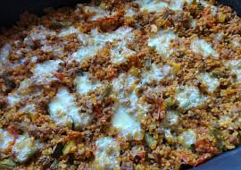 Zapečený bulgur s masem a zeleninou recept