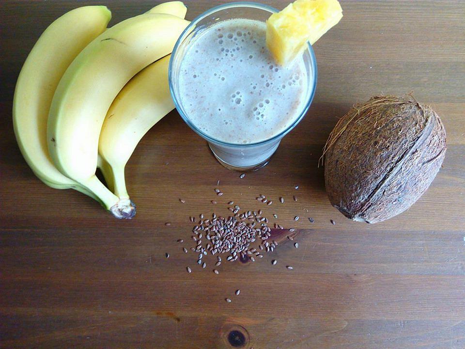 Smoothie banán s lněným semínkem recept