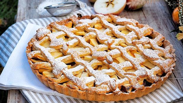 Křehký koláč s jablky