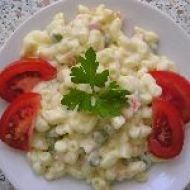 Těstovinový salát s kari a jogurtem recept