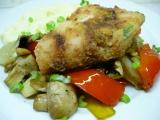 Candát v majonéze s pečenou zeleninou recept