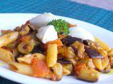 Těstoviny s pečeným lilkem, rajčaty a ricottou recept