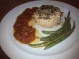 Steak z lososa s fazolkami a rajčatovou omáčkou recept ...