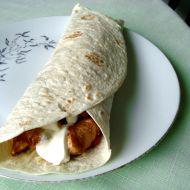 Plněná tortilla se smetanou recept