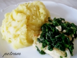 Rybí filé s listovým špenátem recept