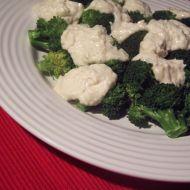 Brokolice s pikantní omáčkou z mikrovlnky recept