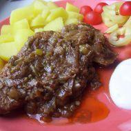 Vepřový plátek na zelenině recept