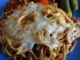 Zapečené gulášové špagety recept