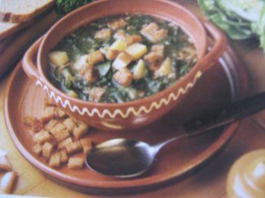 Zelná polévka s bramborem