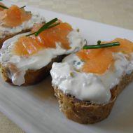 Kozí sýrový krém s lososem recept