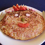 Salámová omeletka recept