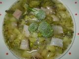 Hráškovo-brokolicová polévka se zakysanou smetanou recept ...