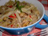 Pohanka s kapustou a houbami recept