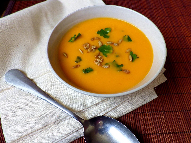 Batátový krém s mrkví a pomerančem recept