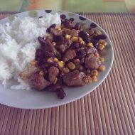 Hovězí s kukuřicí a fazolemi recept