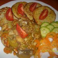 Pangas čína s bramboráčky recept