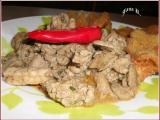 Játrovo-kuřecí nudličky se smaženou hlívou recept