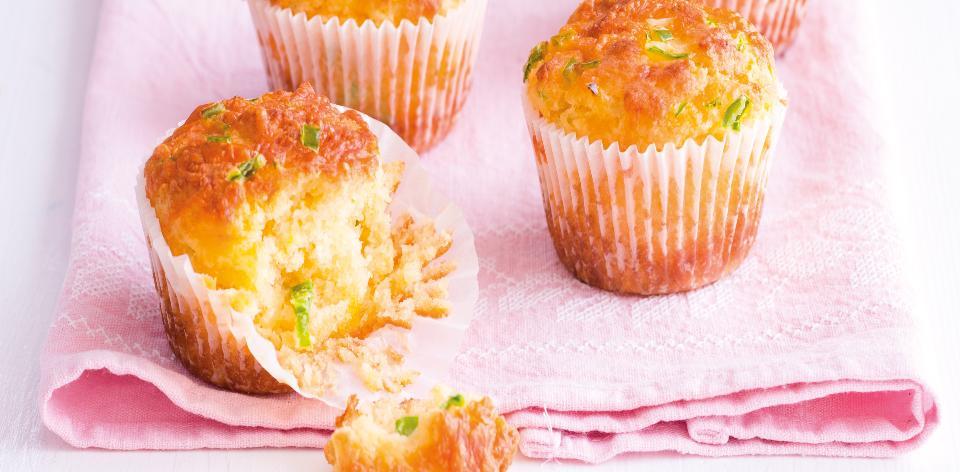 Muffiny s papričkami jalapeno a sýrem