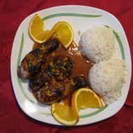 Kuřecí stehýnka s pomerančovou omáčkou recept