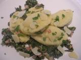 Plněné bramborové ravioli s mangoldem recept