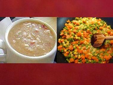 Oběd 62  Chlebovka a Vejce v zelenině