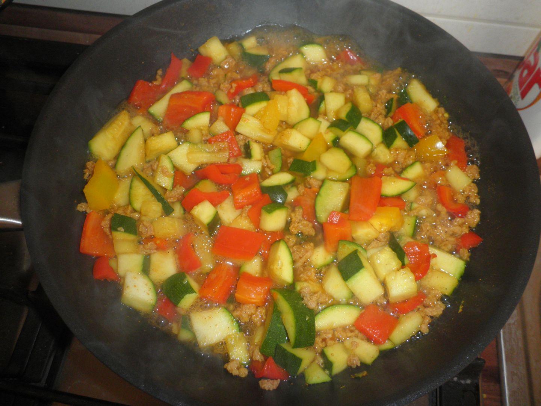 Sójové maso na zelenině+kuskus recept